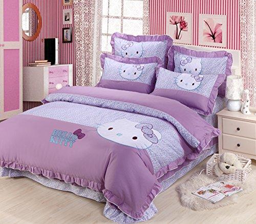 Cute Hello Kitty Queen Size Duvet Cover Set
