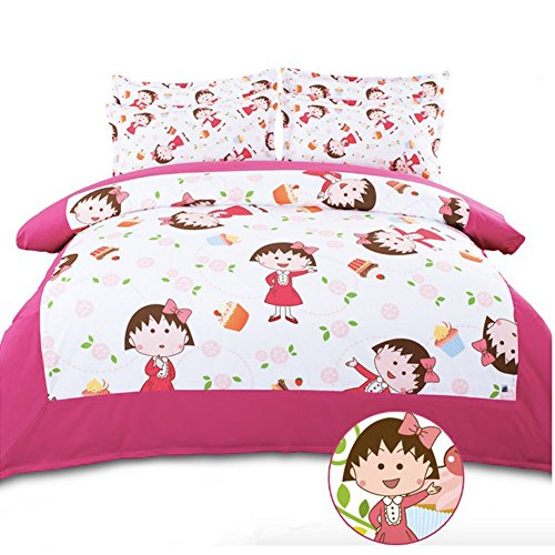 Cute Cartoon Anime Chibi Maruko 4 Piece Bedding Set