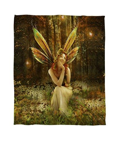 Fairy in the Meadows Fleece Throw