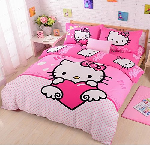 Adorable Hello Kitty Queen Size Duvet Cover Bedding Sets
