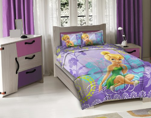 Disney Tinkerbell Fairies Full Size Bedding Set for Girls