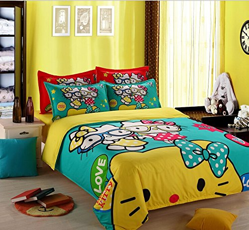 4 Piece Hello Kitty Bedding