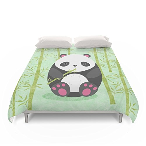 Adorable Cartoon Panda Duvet Cover