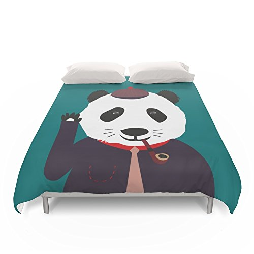 Fun Cartoon Detective Panda Duvet Cover