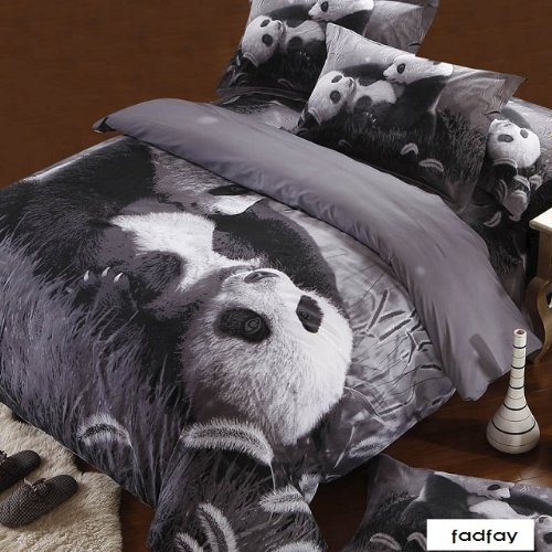 Cute Queen Size Panda Bedding Set