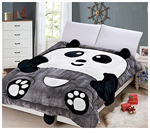 Black and White Panda Comforter for Kids