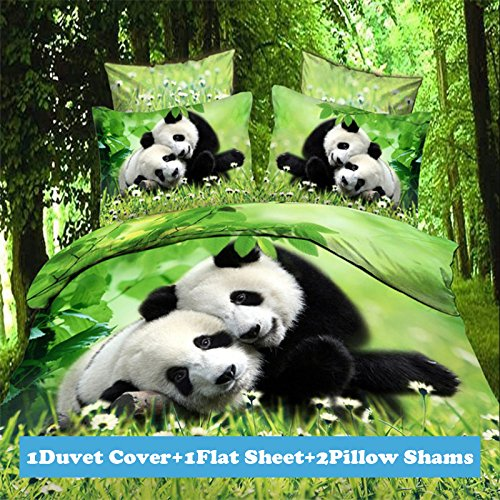 3d Panda Print Bedding Set