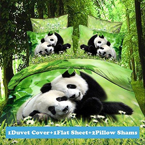 3d Panda Print Bedding Set