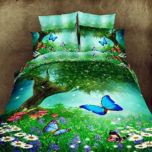 Beautiful 3d Butterfly Duvet Cover Set