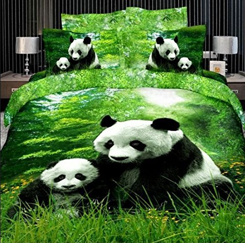 Gorgeous Pandas 3D Print Duvet Cover Set