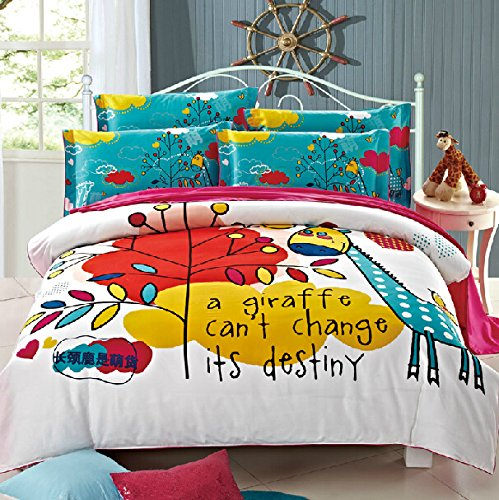 Artistic Giraffe Bedding