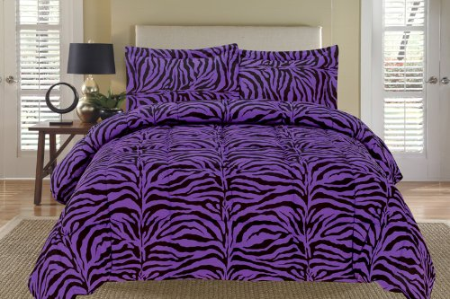 Beautiful Purple Zebra Comforter