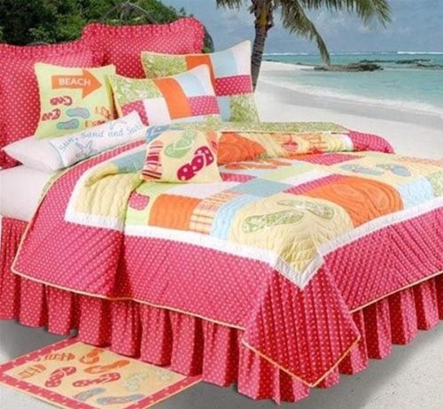 Pink Beach Comforter Set