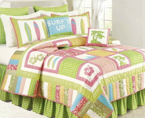 Cute Beach Theme Bedding Set for Girls