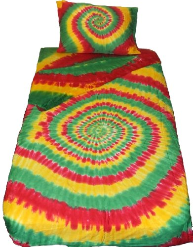 Spiral Tie Dye Bedding Sheet Set