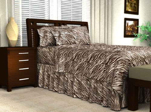 Animal Print Satin Sheet Set