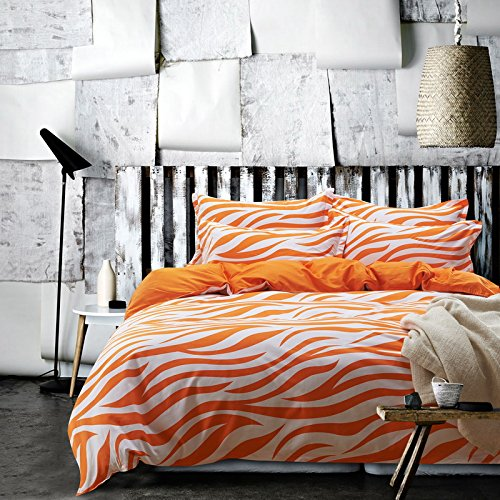 Fun ORANGE Color Zebra Stripe Bedding