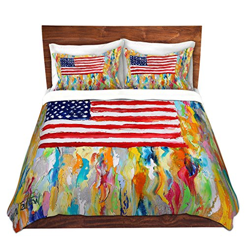 Artistic American Flag Bedding Set