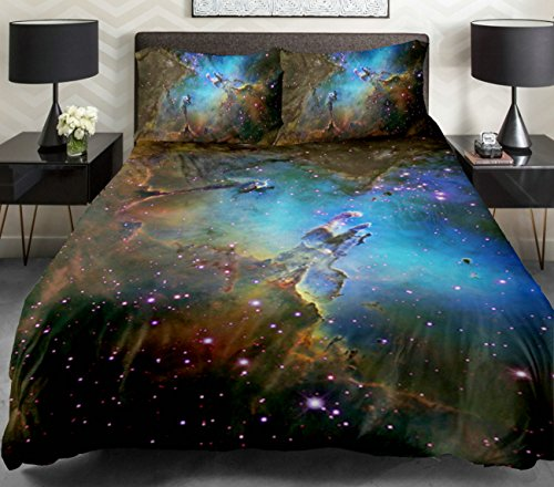 Amazing galaxy bedding sets and outer space bedding for 3d space fabric