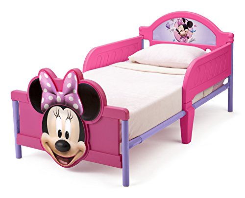 Cute Minnie Mouse 3D Toddler Bed for Girls