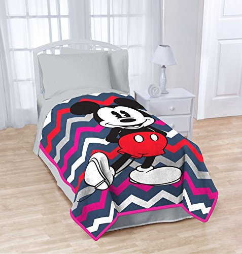Disney Mickey Chevron Bed Blanket