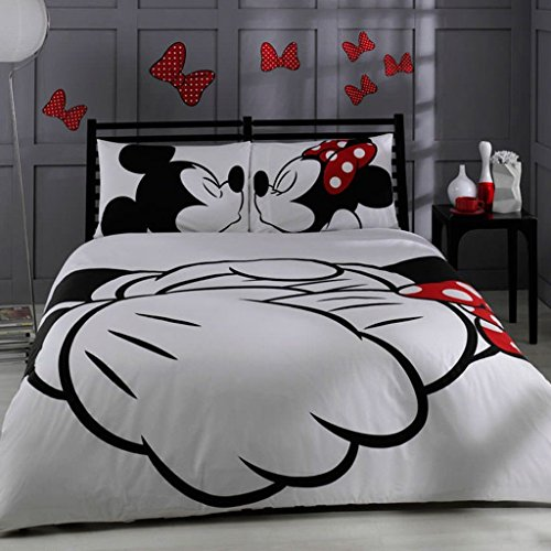Mickey and Minnie Kissing Duvet Cover Set