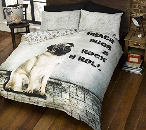Cute Pug Dog Print Bedding