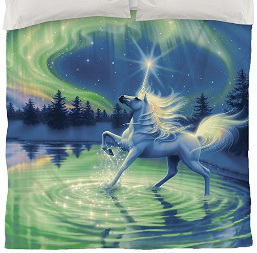 White Unicorn Duvet Cover