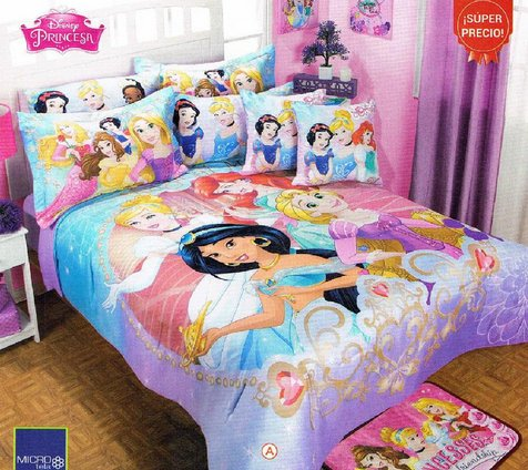 The most beautiful disney princess bedding sets for girls - Twin size princess bed set ...