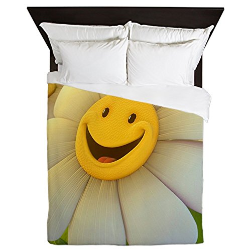 Smiley Face Daisy Flower Duvet