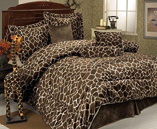 Cute Giraffe Print Comforter Set