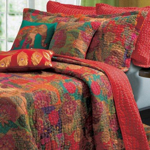 Vibrant Floral Quilt Set