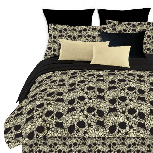 Flower Skull Comforter Set for Teen Girls