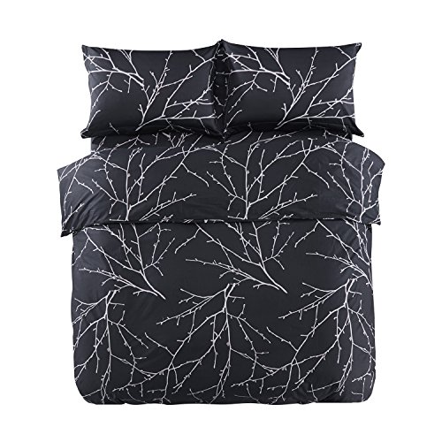 Black and White Tree Branches Design Bedding Set