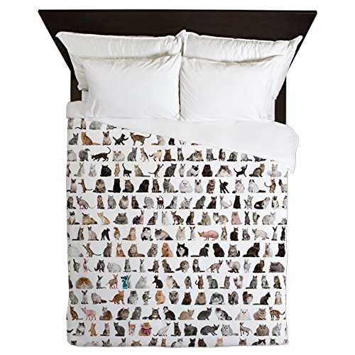 cat print bedding