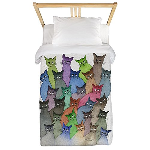 Colorful Cats Design Twin Duvet Cover