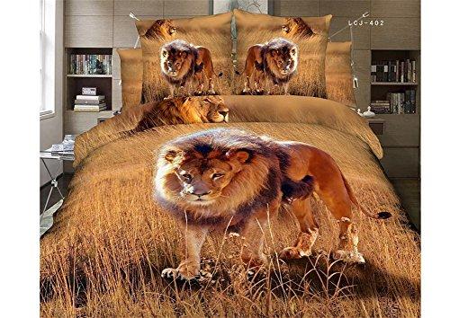 Impressive Lion Print Bedding