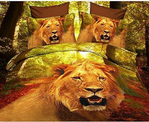 3D Lion Oil Painting Bedding Set