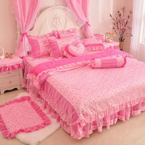 Beautiful Pink Floral Bedding Set
