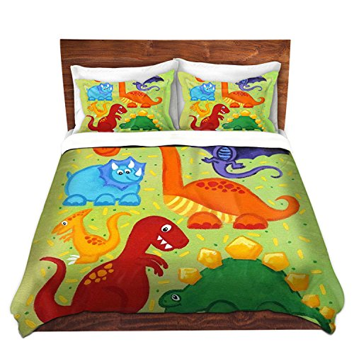 Colorful Dinosaurs Duvet Cover