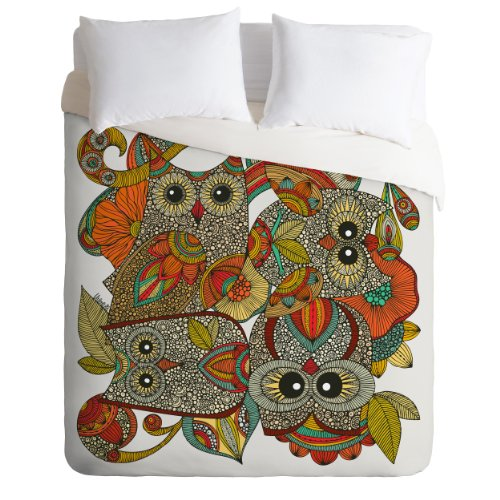 Colorful Owls Duvet Cover