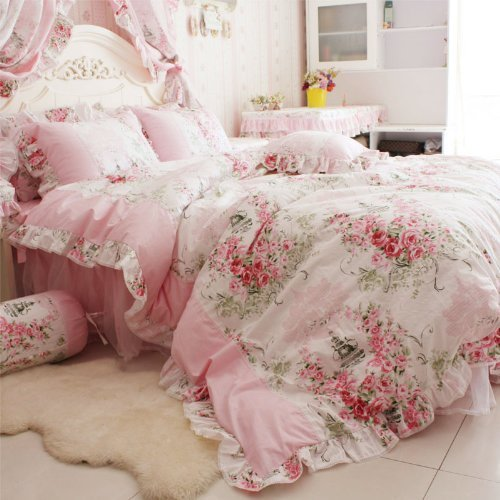 Romantic Pink Floral Bedding