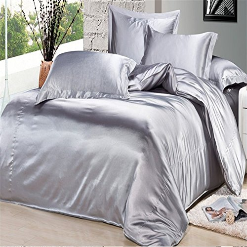 silver bedding sets