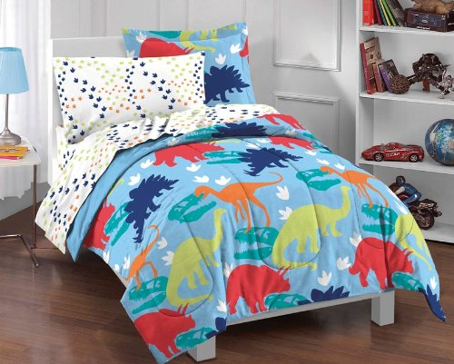Dinosaur Prints Boys Comforter Set