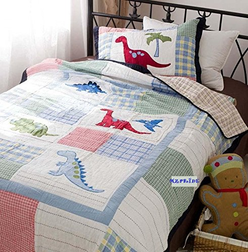 Cute Cartoon Dinosaurs Quilt with Pillow Case