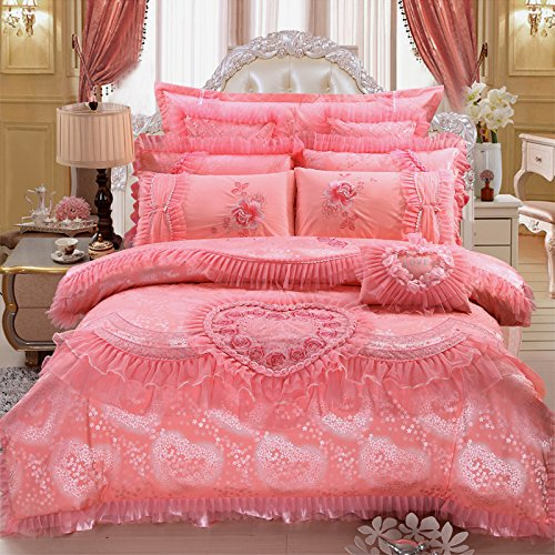 Pink Hearts Bedding Set