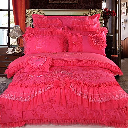 HOT Pink Romantic Bedding Set