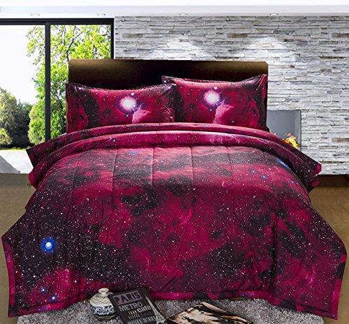 PINK Galaxy Print Comforter Set