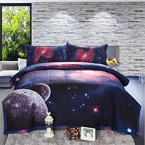 Galaxy Print Comforter Set for Teens