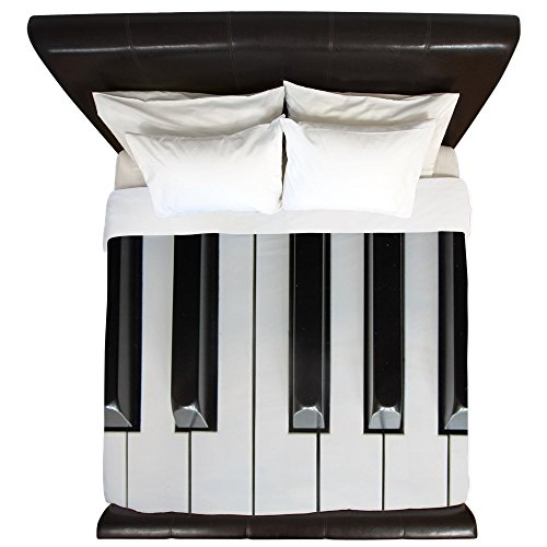 cool piano keys design duvet cover
